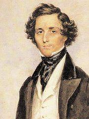 Portrait of Felix Mendelssohn by James Warren Childe