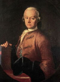 Painting of Leopold Mozart by Pietro Antonio Lorenzoni