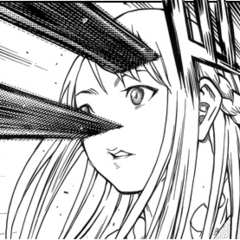 Attacked by Priscilla in 130 ° Manga 's scene