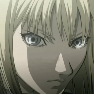 A Claymore's silver eyes