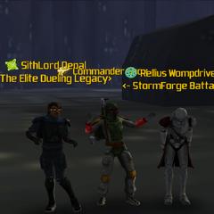 Commander Shox, SithLord Denal & Rellius Wompdriver