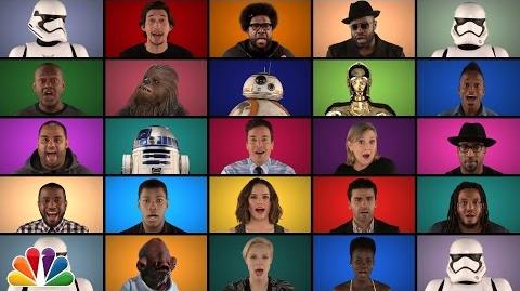 "Jimmy Fallon, The Roots & ""Star Wars The Force Awakens"" Cast Sing ""Star Wars"" Medley (A Cappella)"