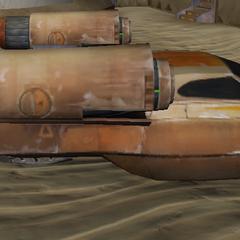 My Landspeeder, often used on Tatooine.