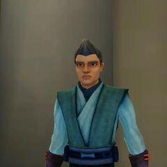 Jock Brogel (as a human) in Jedi gear.