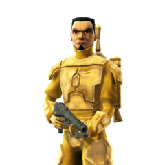 Hotshot in Mandalorian armor