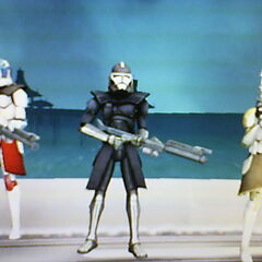 Xeres Gorogdrive (left) Admiral Atom (middle) Wes Shiptalon (right)