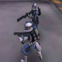 ARC Trooper Casey Layman with a fellow ARC Trooper on Umbara about to fight