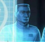 Clone naval officer hologram