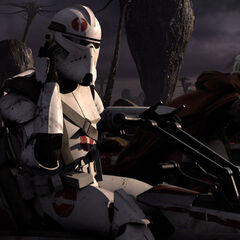 Skirata Receiving  New  Orders from one his brother says the time has come order 66  . the jedi purge begins.