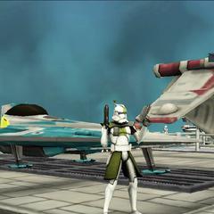 Commander Shox at Kamino Lot