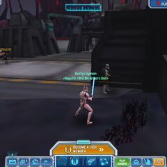 Why is one of the ARC Troopers staring at a wall?