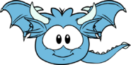 Blue Puffle Dragon Sprite