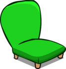 Green Plush Chair sprite 008