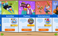 Club Penguin Island Party interface page 2