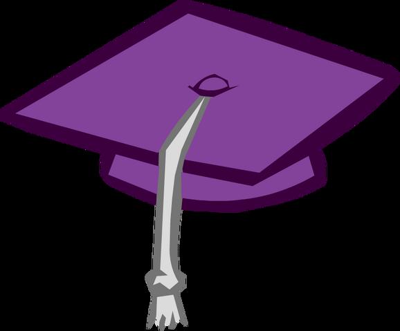 File:Purple Graduation Cap.png