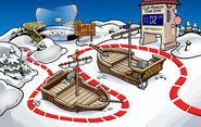 Rockhopper's Arrival Party Snow Forts