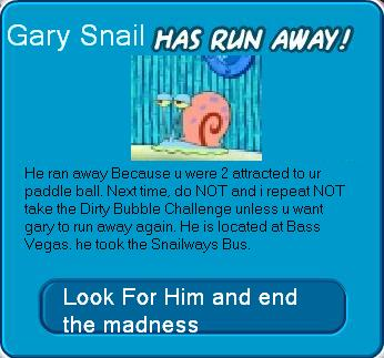 File:Gary The snail has Ran Away.JPG