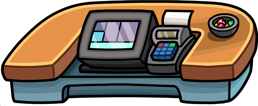 Puffle Hotel Roof Cash Register Png