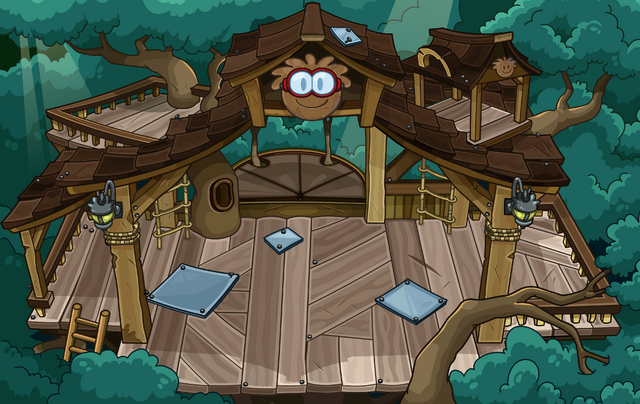 File:Brown Puffle Tree House sprite.png