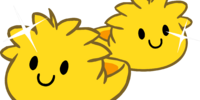 Gold Puffle Slippers