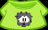 Black Pixel Puffle Tee icon