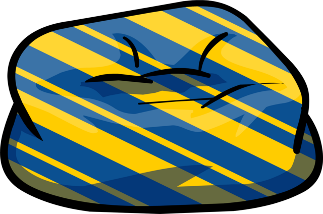 File:Custom Furniture (Blue Beanbag Chair with Stripes).PNG