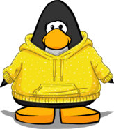 Golden Hoodie from a Player Card