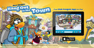 Hang Out at the Town with the Club Penguin app