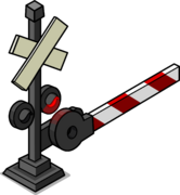 Railroad Crossing Sign sprite 004
