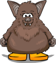 Brown Bat Costume from a Player Card