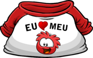 I Heart My Red Puffle T-Shirt icon pt