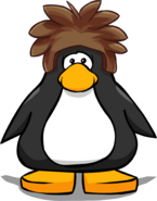 Brown Puffle Cap on a Player Card