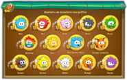 Puffle Party 2016 interface transformations