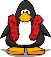 Red Feather Boa from a Player Card