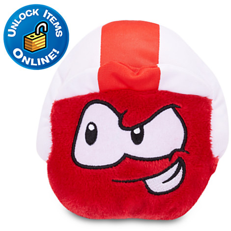 File:Red Puffle Plushie with Blast Off cap.jpg