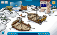 Pirate snow forts