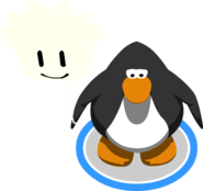 White Puffle Balloon in-game