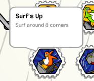 Surfs up stamp book