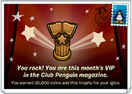 You are this month's vip
