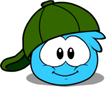 Green 180 Cap in Puffle Interface