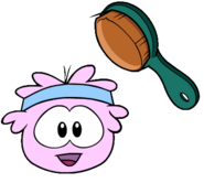 Pink Puffle brushed