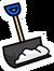Blue Snow Shovel Pin