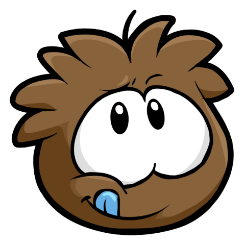 File:Brown Puffle Pin icon.png