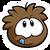Brown Puffle Pin icon