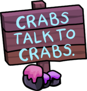 Crabs Talk To Crabs 2011 sign