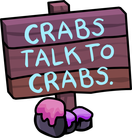 File:Crabs Talk To Crabs 2011 sign.png