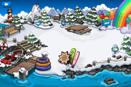 Rainbow Puffle Party Dock