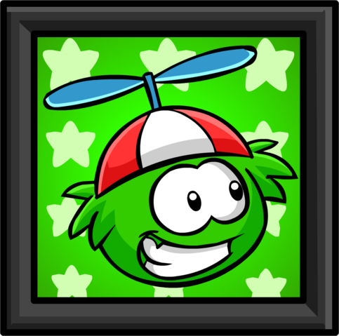 File:Green Puffle Picture furniture icon.png