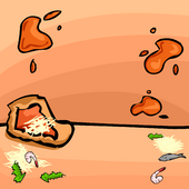 Pizza Splat Background