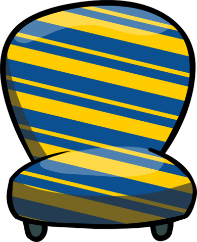 File:Custom Furniture (Blue Chair with Stripes).PNG